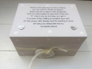 Shabby Personalised Chic Mother Of The Groom Wedding Gift LARGE Trinket Box Mum - 332097111433